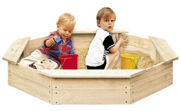 Dětské dřevěné pískoviště