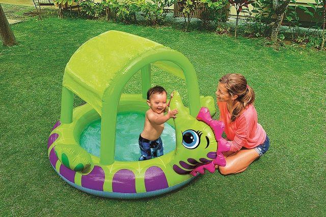 Dětský nafukovací bazén se stříškou