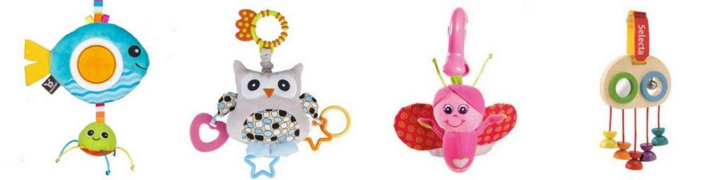 Hračky pro miminka na kočárek