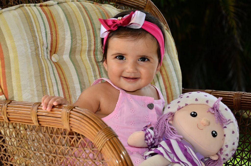 Textilní panenky pro nejmenší