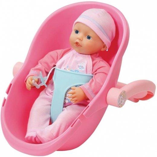 Měkká panenka Baby born se sedačkou