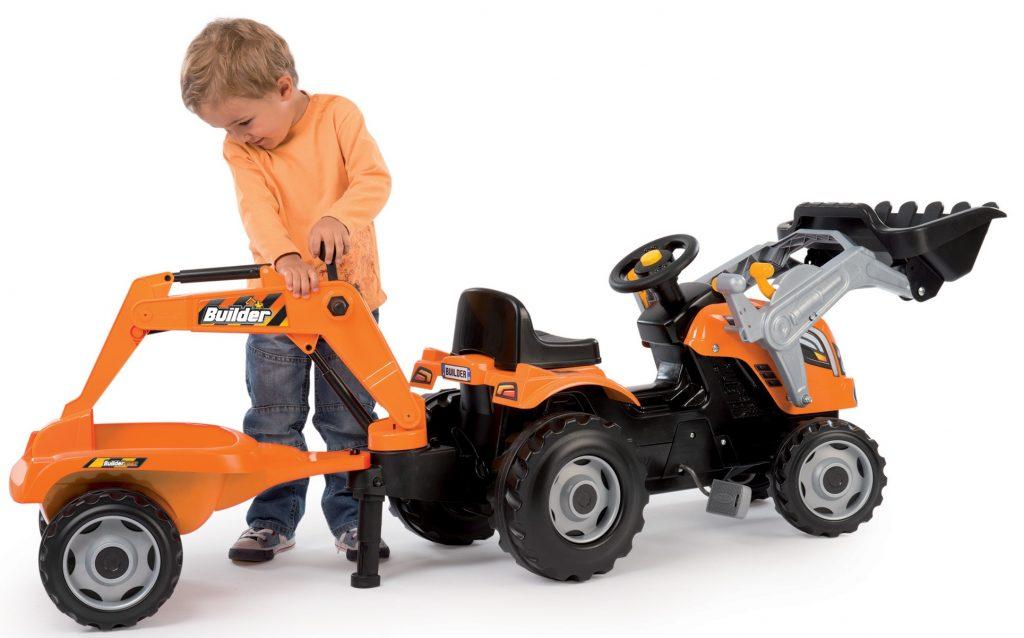 Velký traktor pro děti s pedály Smoby Max