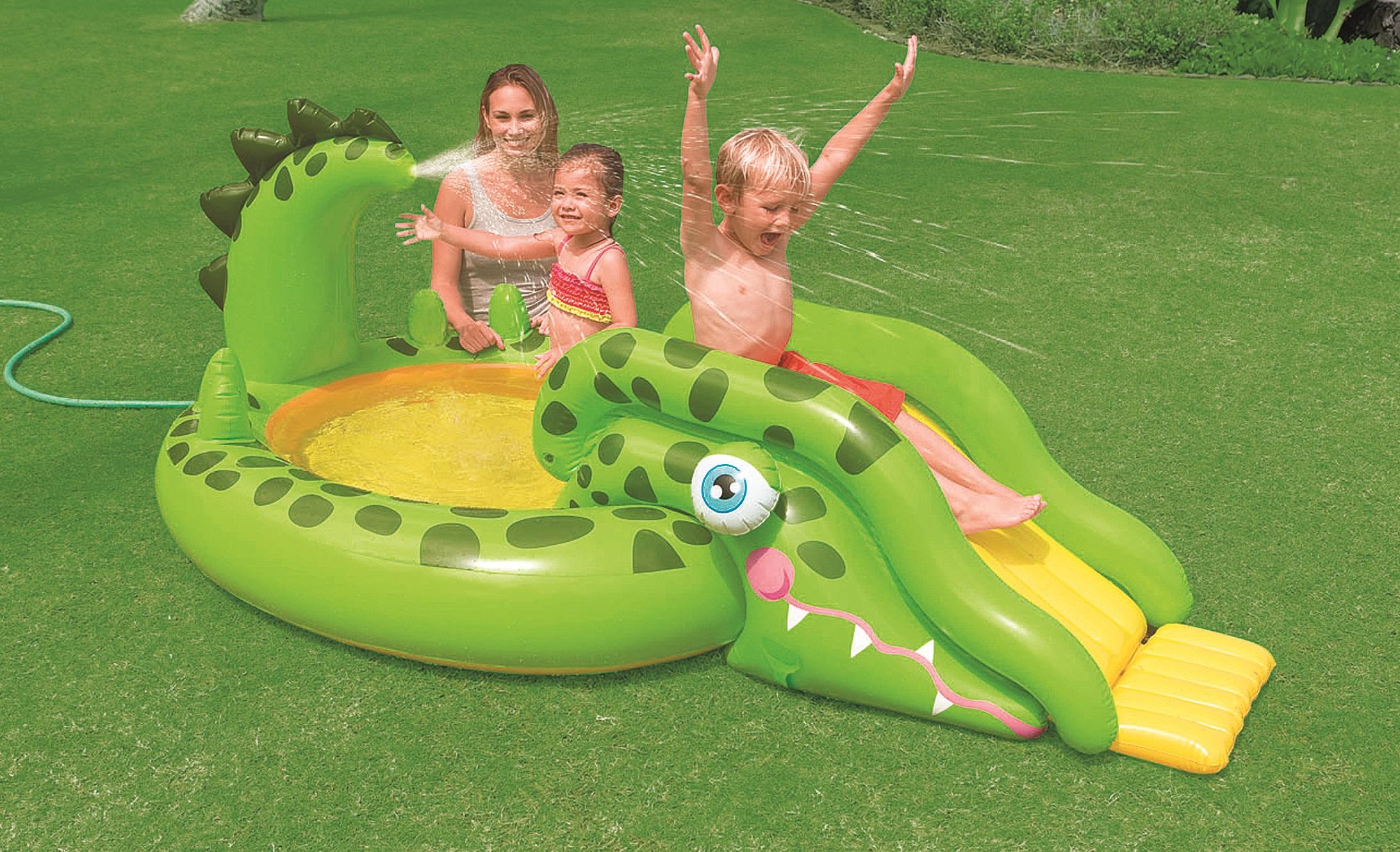 Dětské bazény se skluzavkou