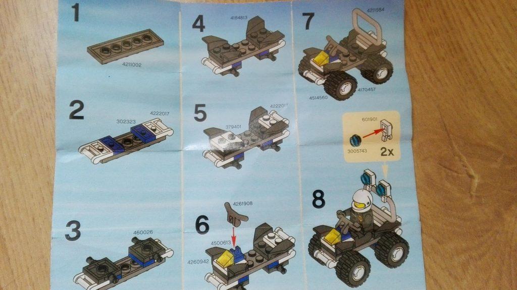 Návod pro skládání Lego