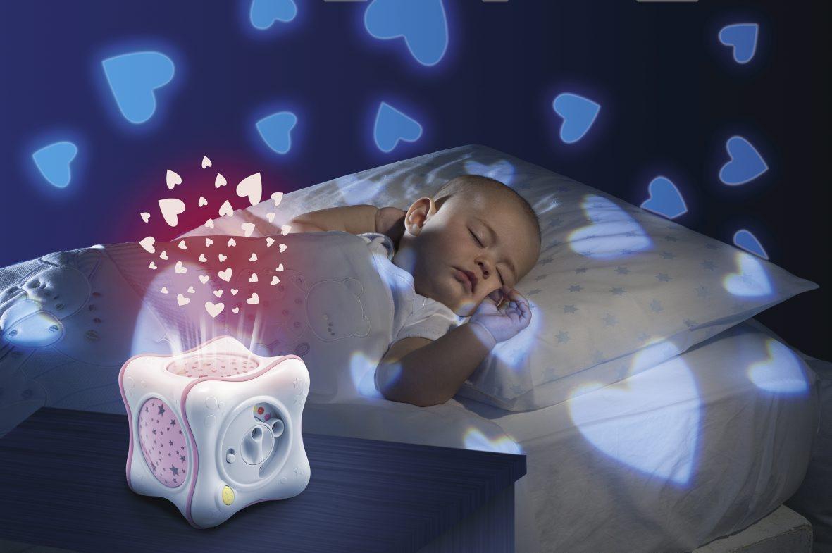 Dárek pro novorozence projektor s melodií