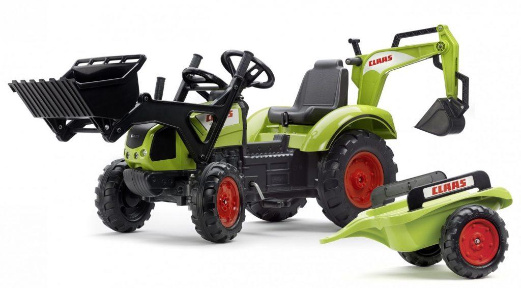 Velký traktor pro děti s bagrem