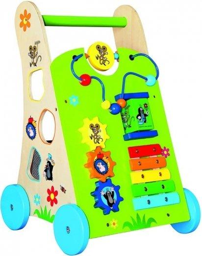 Dřevěné chodítko pro dítě