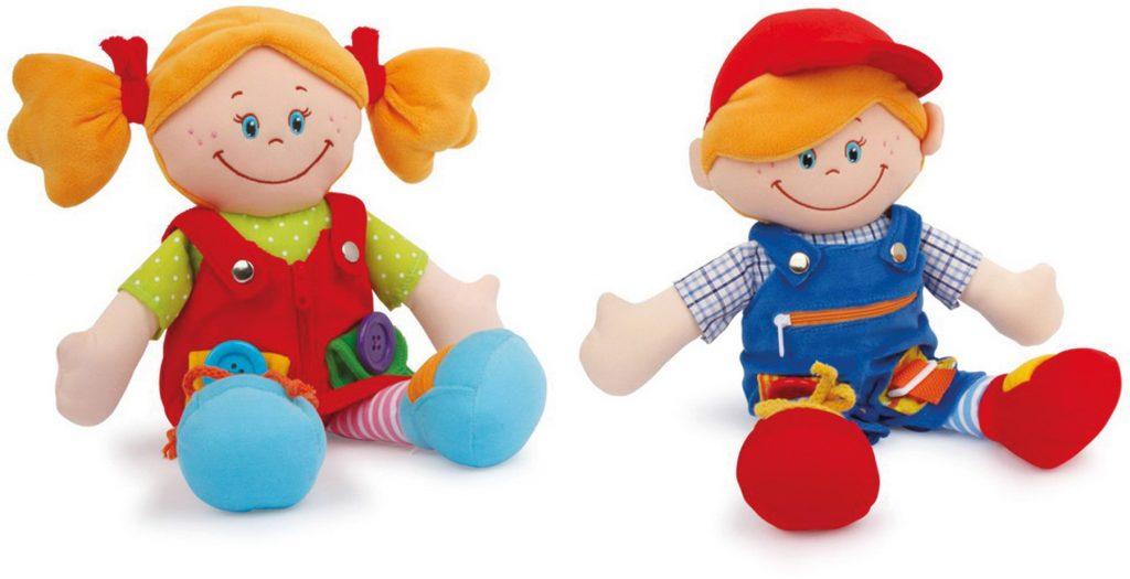Didaktické panenky hračky pro rozvoj jemné motoriky