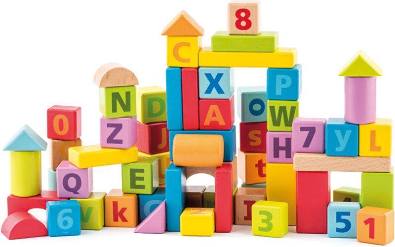 Dřevěné kostky hračky pro rozvoj jemné motoriky