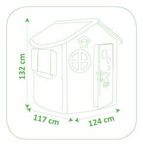 Smoby dětský zahradní domek Jura rozměry