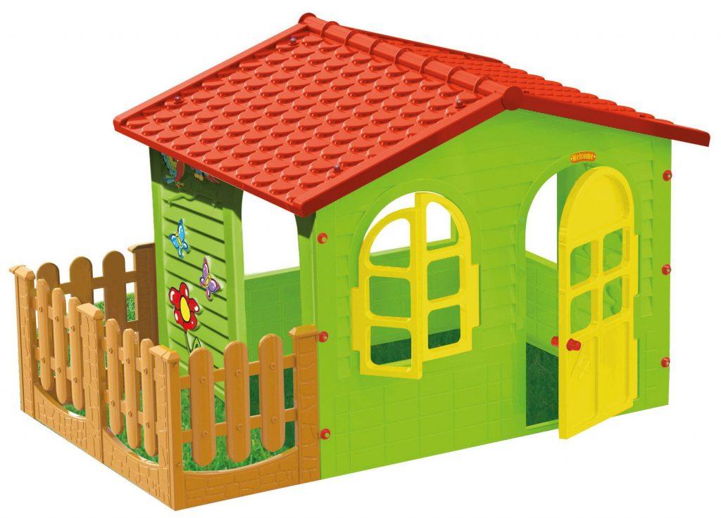 Dětský zahradní domek s plotem Mochtoys