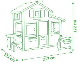 Velký dětský zahradní domek Smoby parametry