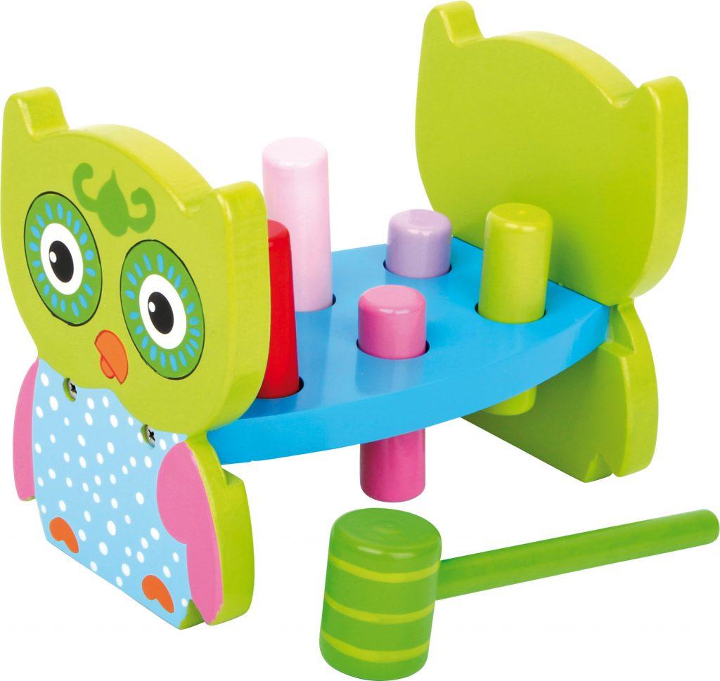 Zatloukačky hračky pro rozvoj jemné motoriky