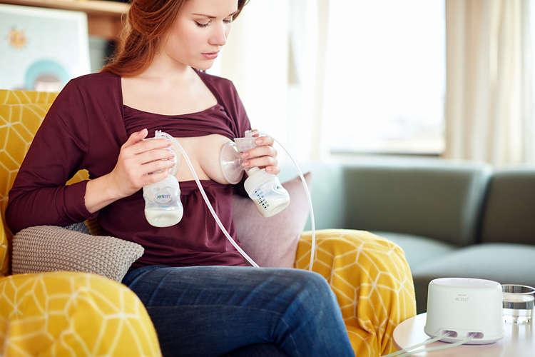 Avent odsávačka mléka na 2 prsa