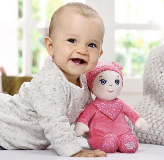 Panenka Baby Annabell Newborn Soft s chrastítkem