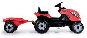 Smoby dětský traktor Farmer XL s vlečkou červený