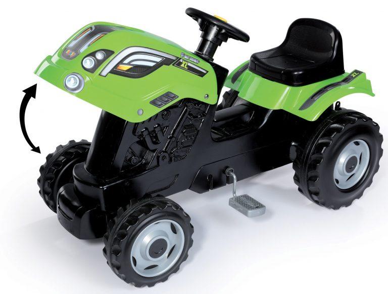 Smoby dětský traktor Farmer XL s vlečkou