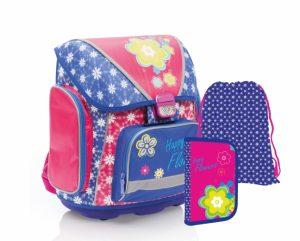 Dívčí školní taška pro prvňáka v setu